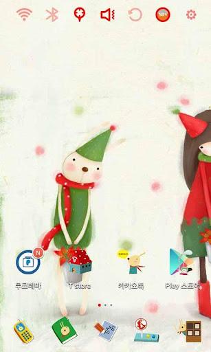 에치의 메리 크리스마스 런처플래닛 테마
