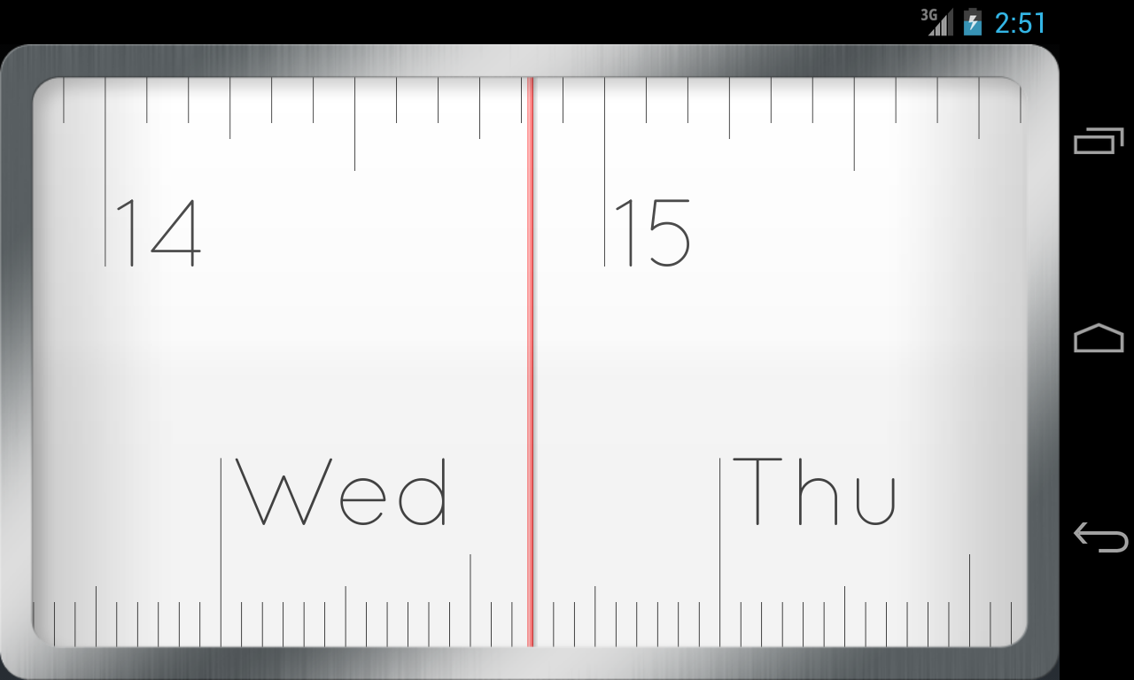 Linear Clock Widget - screenshot