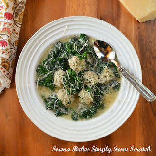 Italian Wedding Soup With Meatballs.