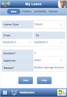 Screenshot of MRMS app
