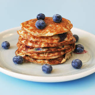 Almond Meal Pancakes with Blueberries.