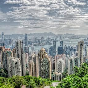 Hong Kong- Victoria Peak by Mihail Marzyanov - City,  Street & Park  Vistas