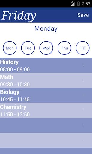 Daily Plan Tages Stundenplan