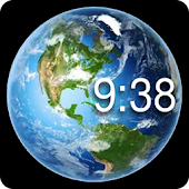 Rotating Earth Watch Face
