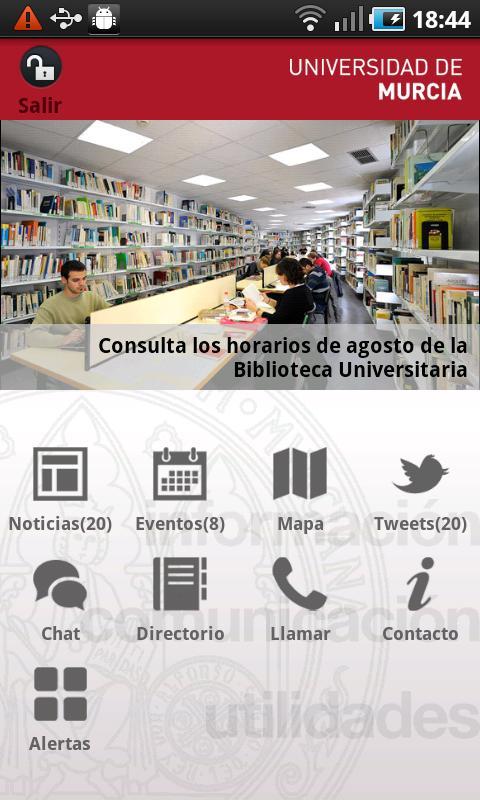 Universidad de Murcia App- screenshot