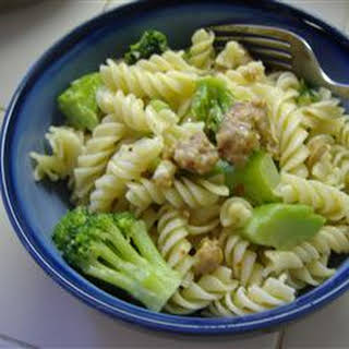Broccoli and Sausage Cavatelli.