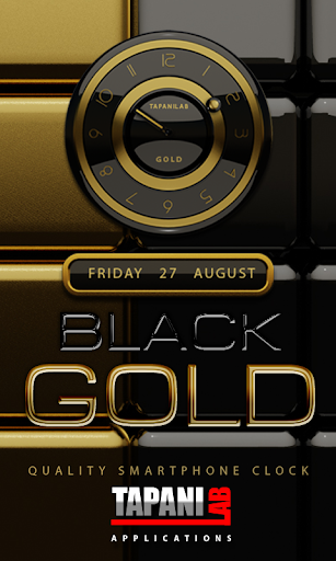 Black Gold clock widget
