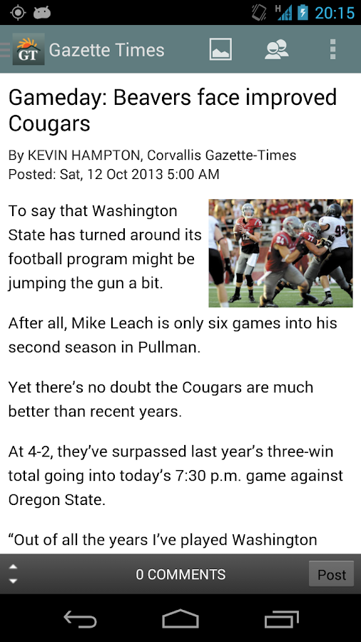 Gazette Times- screenshot