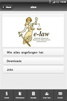 Screenshot of Kanzlei e-law