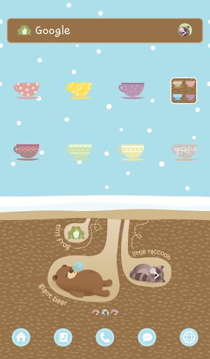 겨울잠 동물들 도돌런처 테마