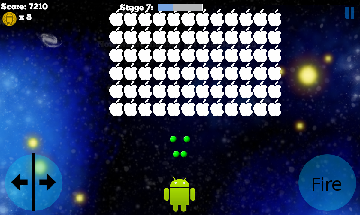 Apple Invaders- screenshot