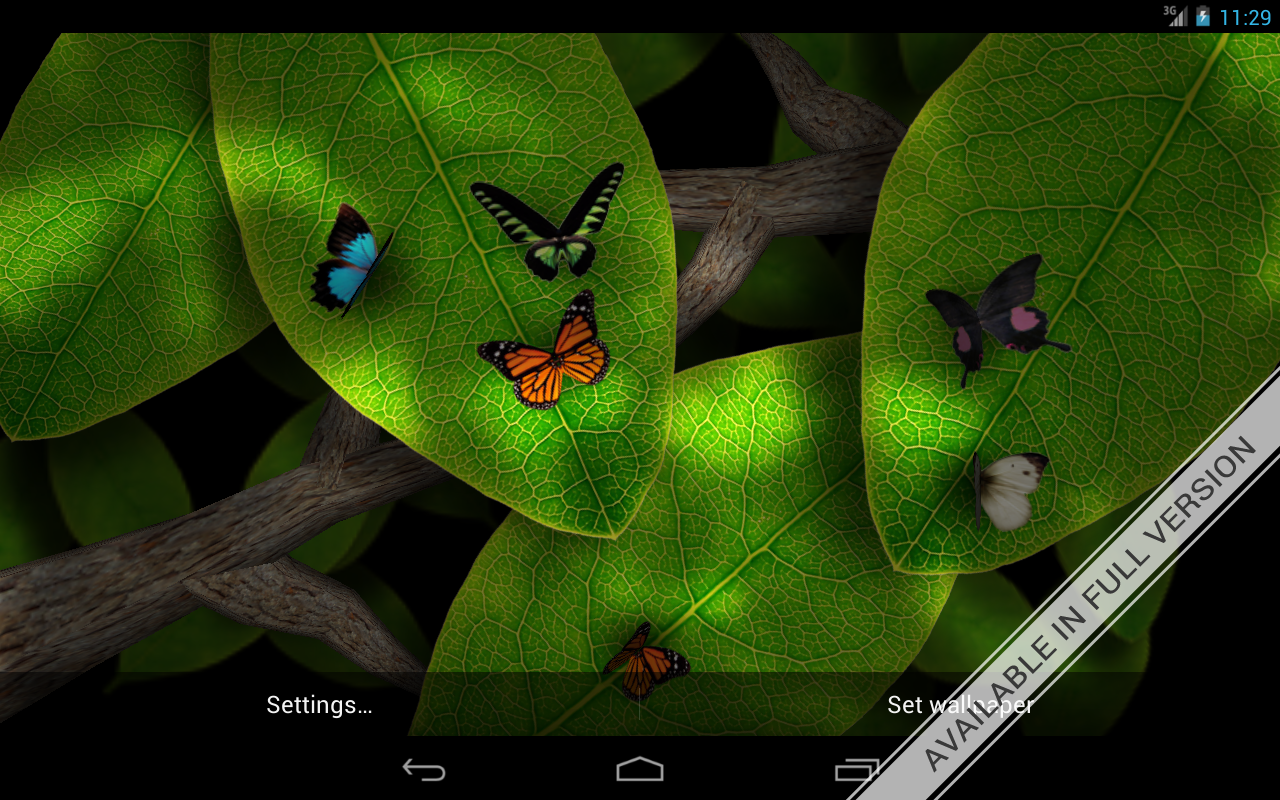 Tap Leaves Free Live Wallpaper - screenshot