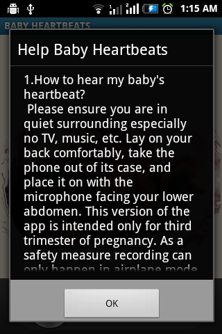 Baby Heartbeats Lite Screenshot