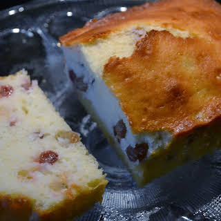 Lemon French Yogurt Cake with Champagne Grapes.
