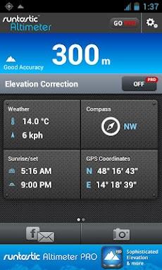 Runtastic Altimeter 登山用GPS高度計測のおすすめ画像1