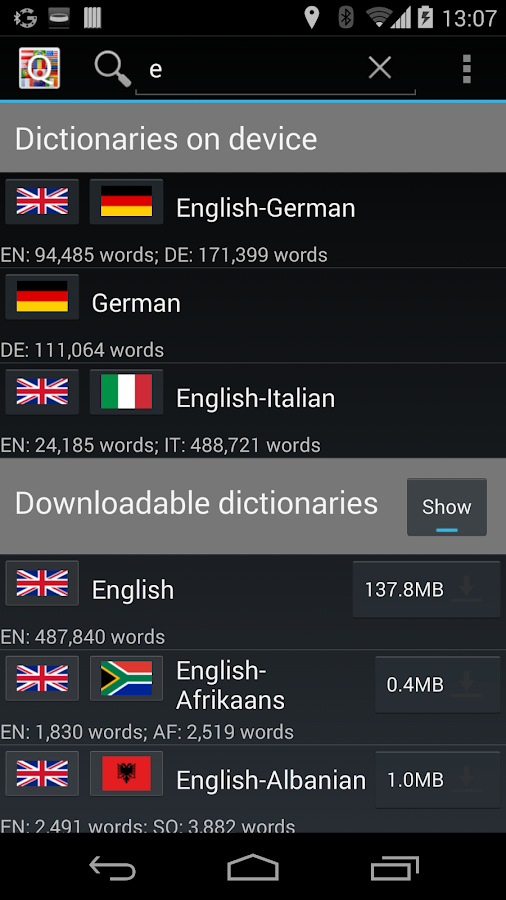 QuickDic Offline Dictionary - screenshot