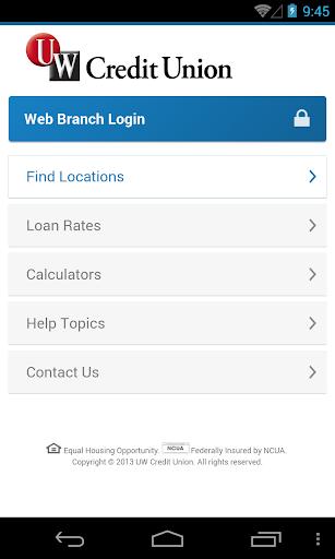 UW Credit Union Mobile