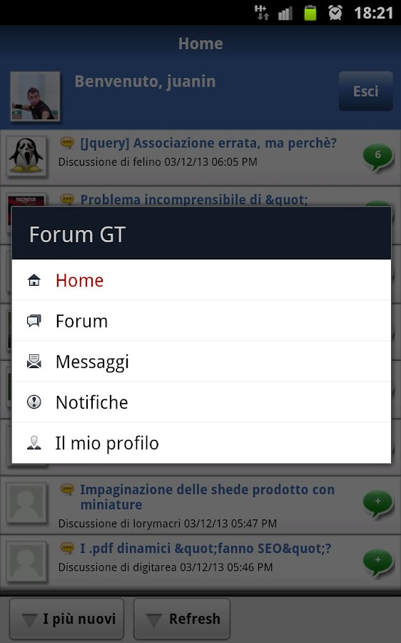 Forum GT per Webmaster- screenshot