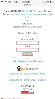 AZERI CHAT, QEYDIYYAT PULSUZDU - screenshot