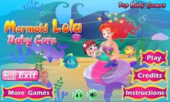 Screenshot of Mermaid Lola Baby Care