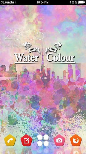 Water Color C Launcher Theme