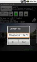 Screenshot of APD TimeStamp+