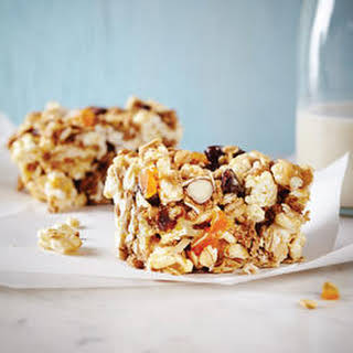 Fruit and Nut Popcorn Bars.