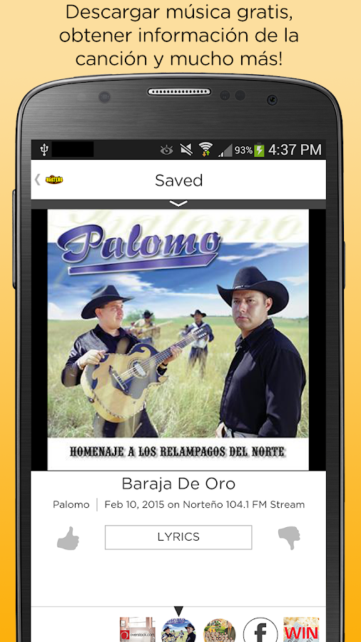 Norteño 104.1 FM- screenshot