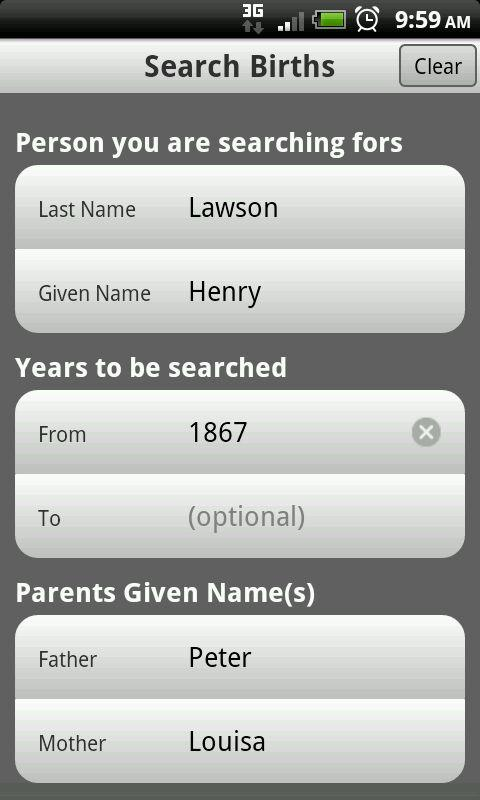 Family History - screenshot