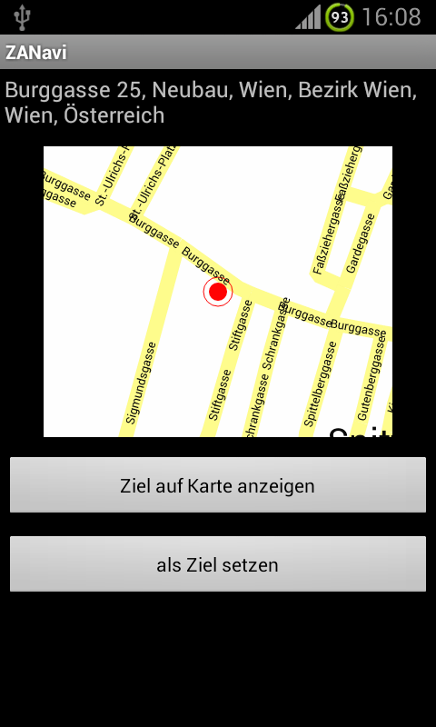 ZANavi for Android - screenshot