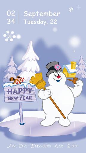 Snowman Live GO Locker Theme