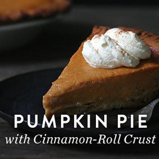 Pumpkin Pie with Cinnamon-Roll Crust.