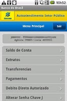 Screenshot of Autoatendimento Setor Público