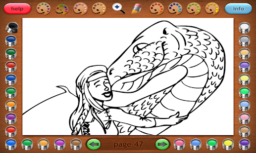 Coloring Book 25 Dragon Attack Screenshot Thumbnail