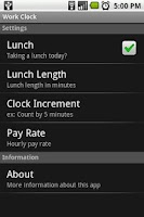 Screenshot of Work Clock