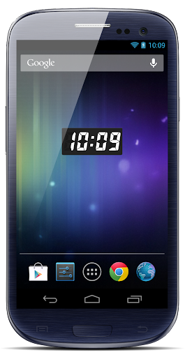 Clock 7seg widget