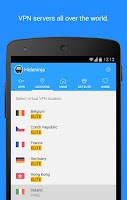 Screenshot of Hideninja: VPN for Android