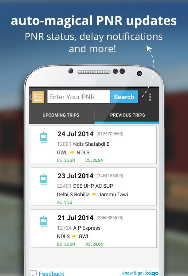 indian rail train info hotels- screenshot