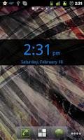 Screenshot of Blue Transparent Digital Clock