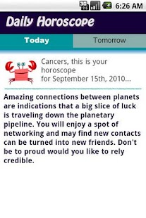 Cancer Daily Horoscope - screenshot thumbnail