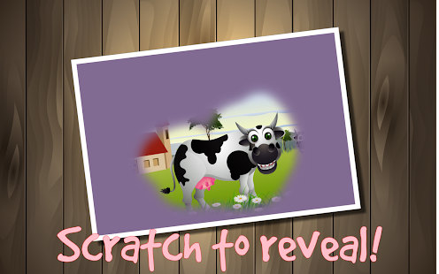 Kids Cow Farm Scratch Off Game