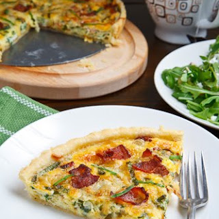 Wild Leek and Double Smoked Bacon Tart