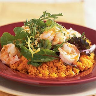 Ginger Shrimp with Carrot Couscous.