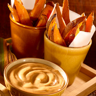 Sweet Potato Fries with BBQ Mayonnaise Recipe