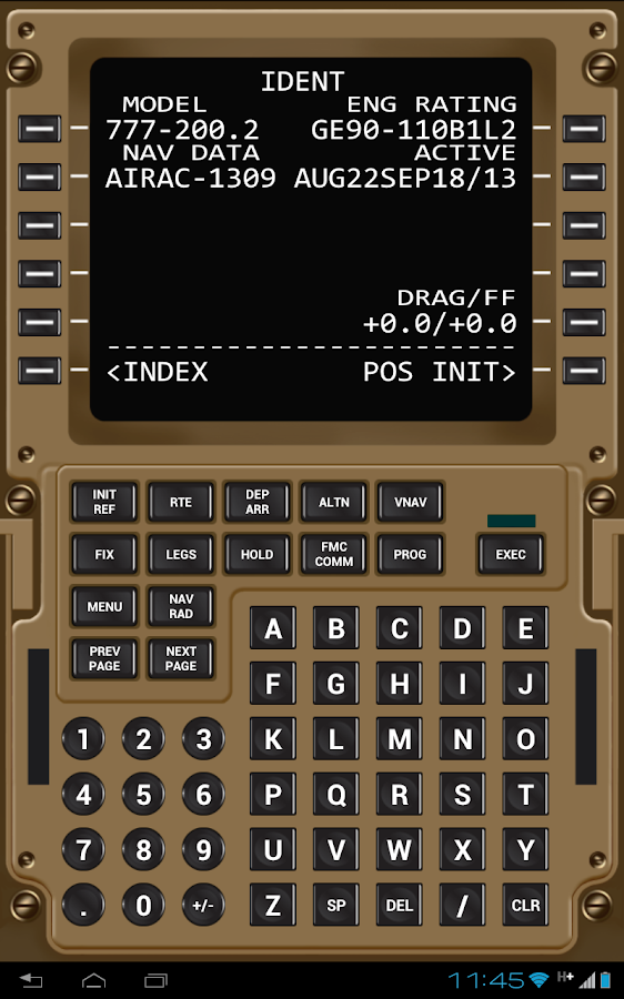 Virtual CDU 777 - screenshot