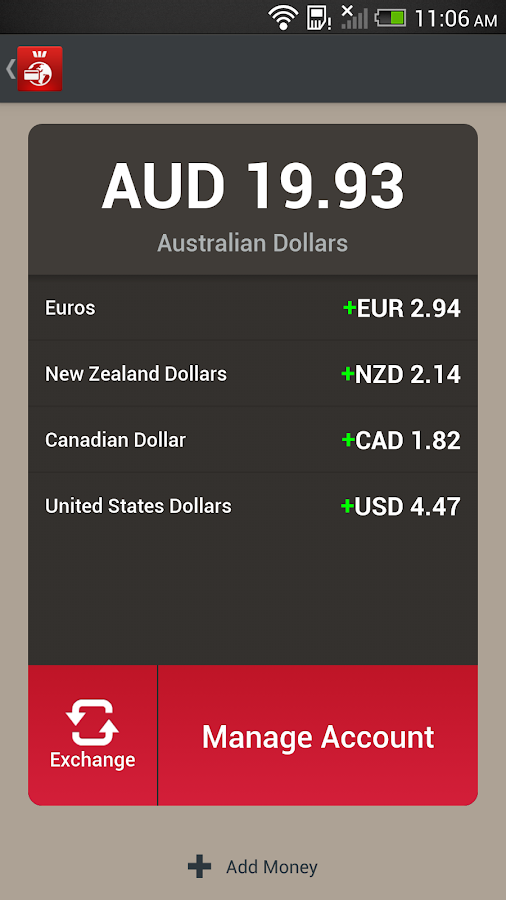 Westpac Global Currency Card- screenshot