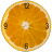 Orange Slice Clock Widget 2x2 icon