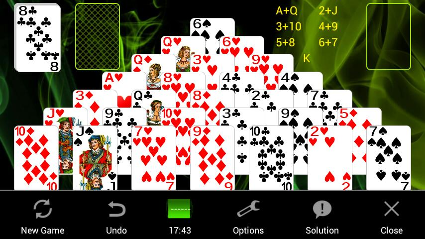 Pyramid Solitaire + - screenshot