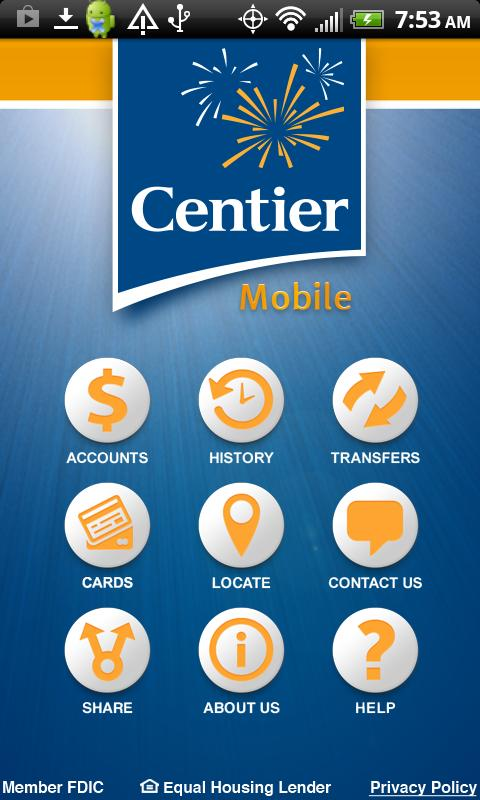 Centier Bank - screenshot