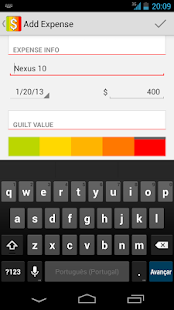 Guilt Free - Expense Manager - screenshot thumbnail